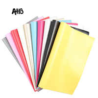 AHB 22CM*30CM Soft Leather Fabric Multi Colors Sewing Artificial Synthetic Pu For DIY Bag Shoes Material Handmade Fabric