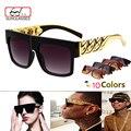 Medusa moda Hombres Retro gafas de Sol de La Vendimia mujeres Diseñador de la Marca De Plástico Cadena de Oro de Gran Tamaño Shades oculos de gafas de Sol zonnebril