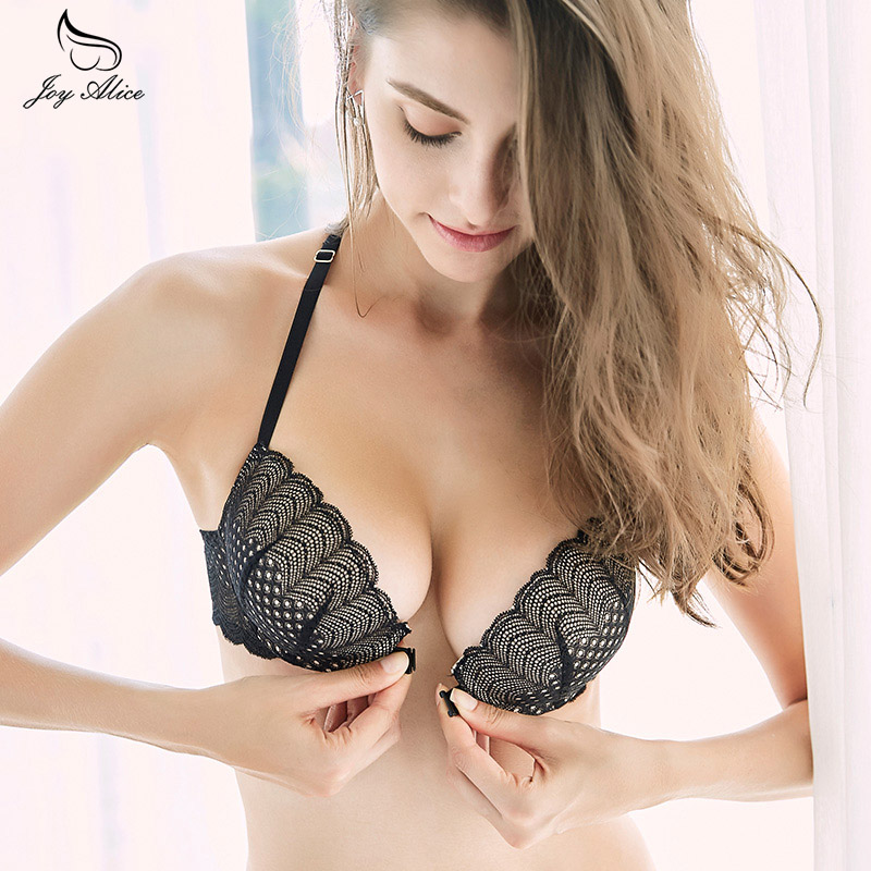 Lace   Bra   front clousure   Bras     Set   For Women Push Up A B C Cup Embroidery Plus Size Underwear   Set     Bra   and Panty   Set   Underwear
