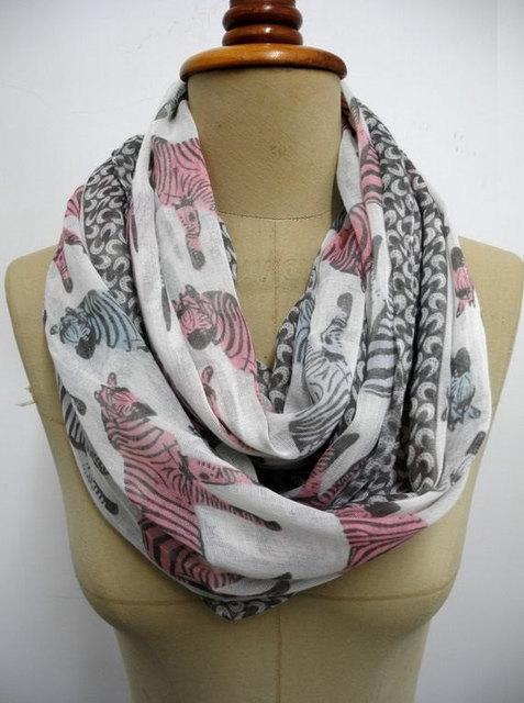 2ec559eb081 Zebra Infinity Scarf Zebra pattern Shawl animal print scarf holiday Boho  Geometric Gift Wrap-in Scarf, Hat & Glove Sets from Women's Clothing & ...
