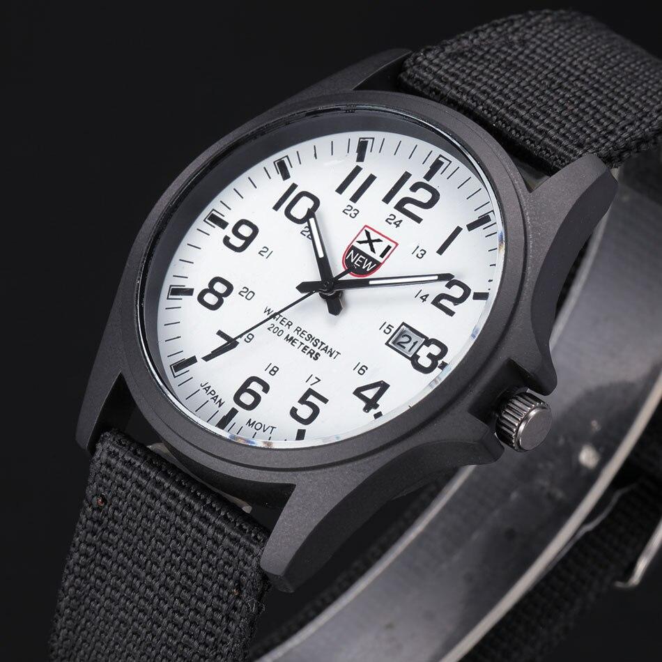 XINEW mode Design militaire montres hommes marque originale en Nylon bracelet Montre à quartz décontractée avec calendrier Nouveau Montre Homme 2018