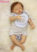 """Perseguir 22 """"/55 cm bebe silicona realista reborn Reborn Baby Doll para Niños compañero de juegos de Regalo para Los Niños Juguetes de Año Nuevo Suave Cuerpo de Muñecas Reborn"""