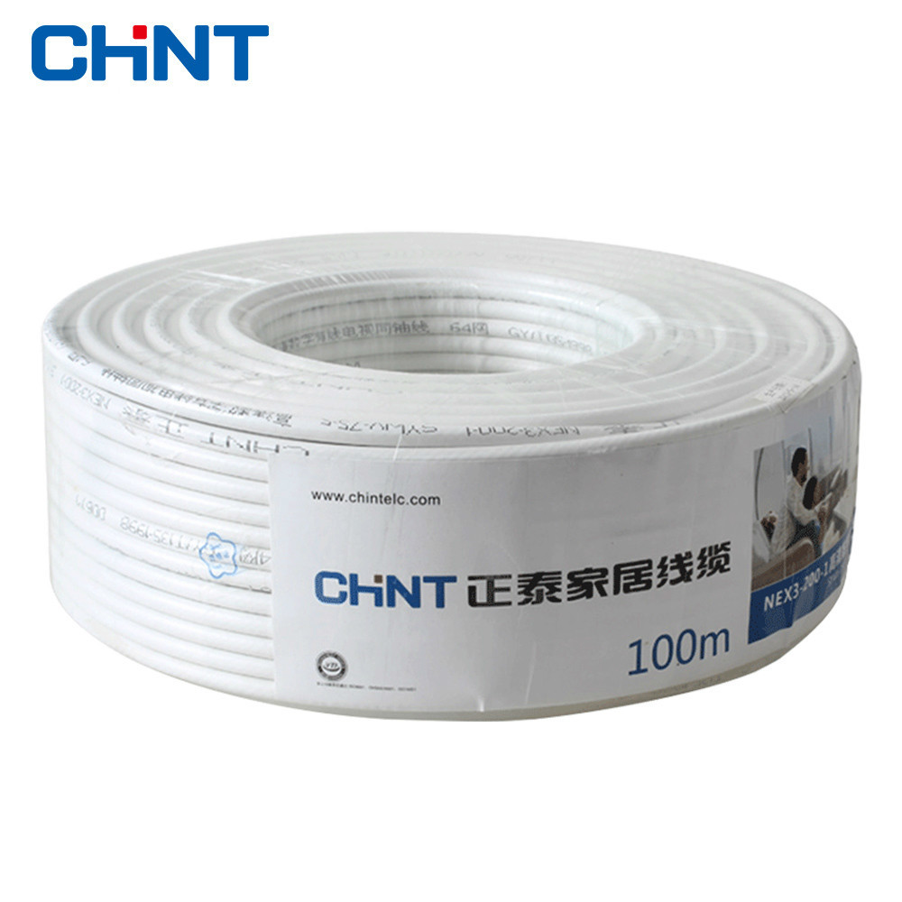 CHNT Electrical Wire And Cable Coaxial Cable Closed Line Cable High - Definition Television Line 100 Meters chnt electrical wire and cable coaxial cable closed line cable high definition television line 100 meters