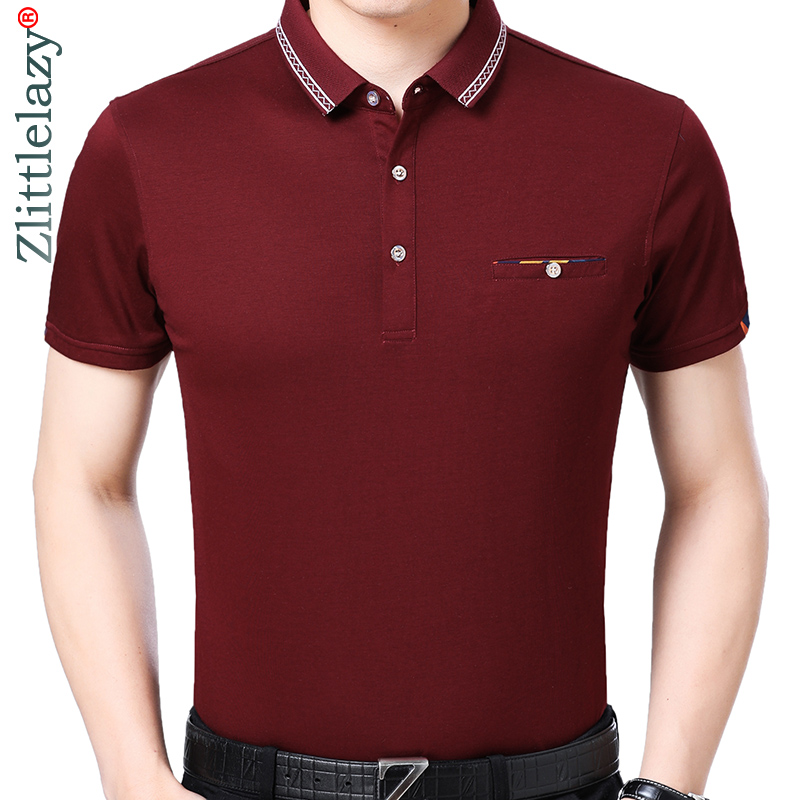2019 Marke Casual Sommer Solide Kurzarm Polo Shirt Männer Polo Jersey Tasche Herren Polos T-shirts Kleid Fashions 32578 Babykleidung Mädchen