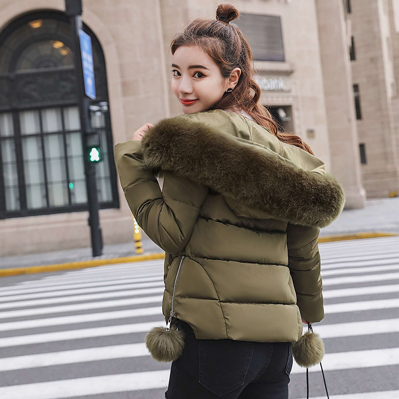 Hot sale 2019 Special Offer Female Cotton-padded Jacket With Hooded Big Fur Down   Parka   Keep Warm Yy1703