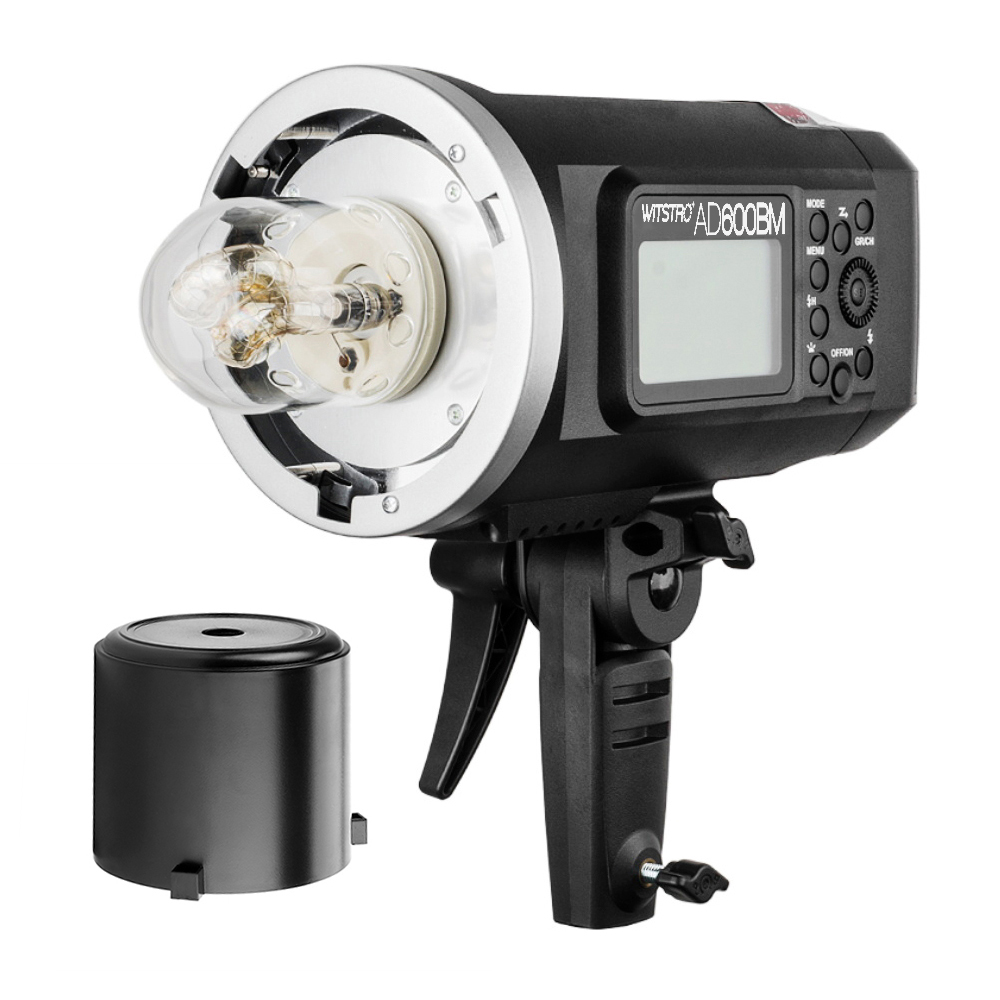 <font><b>Godox</b></font> <font><b>AD600BM</b></font> Manual Version HSS 1/8000s 600W GN87 Outdoor Flash Light (Bowens Mount) w/ Lithium Battery 8700mAh for Canon Nikon image