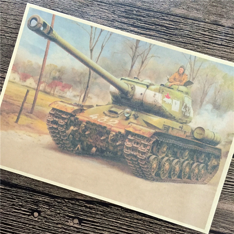 RMK-059 back to the future kraft paper Soviet armor wall art poster pictures home decor for bathroom 42x30cm Special offer