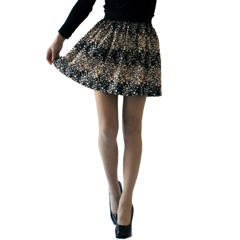 Fashion Pleated Retro High Waist Summer floral plaid Short Mini Skirts 16
