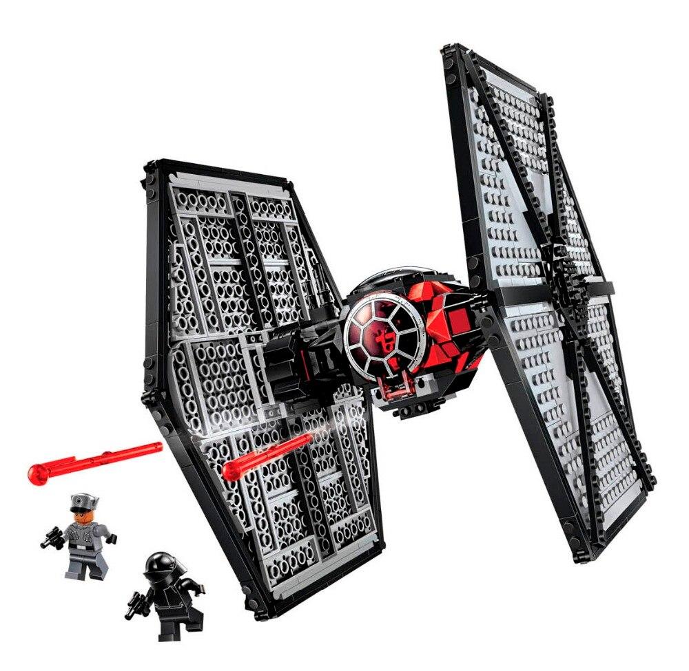 2018 Новый 10465 звезда Space Wars TIE Fighter строительные блоки кирпичи игрушки Детский подарок LegoINGly Starwars 75101 548 шт./компл.