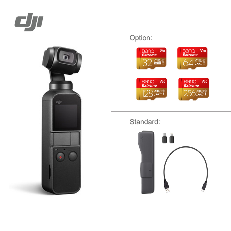 DJI Osmo Pocket the smallest 3 axis stabilized handheld camera original brand new newest DJI osmo