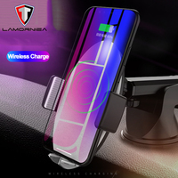 2 in1 Qi Wireless Car Charger For iPhone XS MAX XR 7 Samsung S9 S8 Note 9 8 Quick Wireless Charger Car Mount Mobile Phone Holder