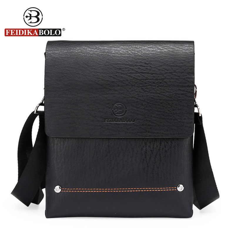 FEIDIKA BOLO брендовая сумка мужская сумка-мессенджер маленькая сумка на  плечо кожаная сумка высокого качества 39814418acd
