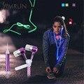 Symrun 2016 Lover Пара Световой Мобильного Наушники Наушники Молния наушники-Вкладыши 3.5 Мм Спорт Glow Светодиодные Наушники