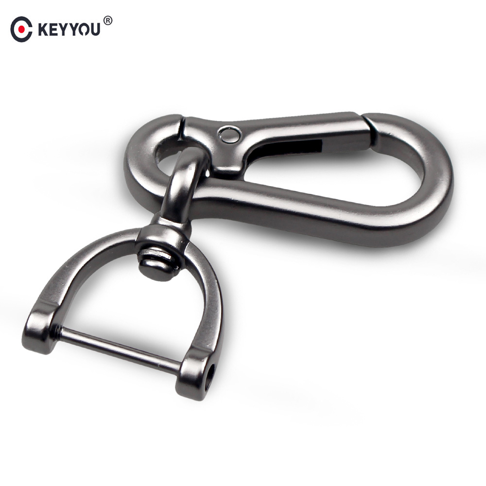 KEYYOU New Black Silver <font><b>For</b></font> <font><b>BMW</b></font> <font><b>Car</b></font> <font><b>Keychain</b></font> Key Chain Key Rings Interior Creative Gift <font><b>For</b></font> <font><b>Car</b></font> <font><b>Styling</b></font> Auto Accessories Metal image