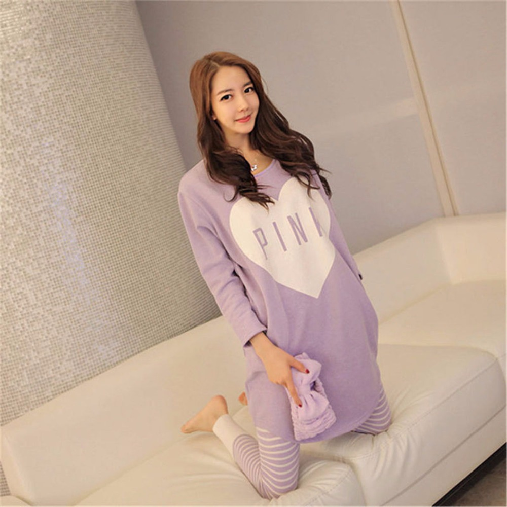 2019 Cute Winter Women   Pajamas     Sets   Sleep Pant Autumn Cartoon Warm Modal Casual female Suit kawaii Long Sleeve Animal sleepwear