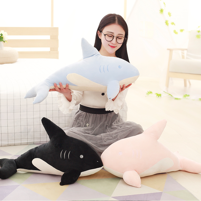 2017 New Feather Cotton Shark Plush Toys, Large Simulation Software Big White Shark Pillow / Doll, Children Birthday Gift! easyway sea life gray shark great white shark simulation animal model action figures toys educational collection gift for kids
