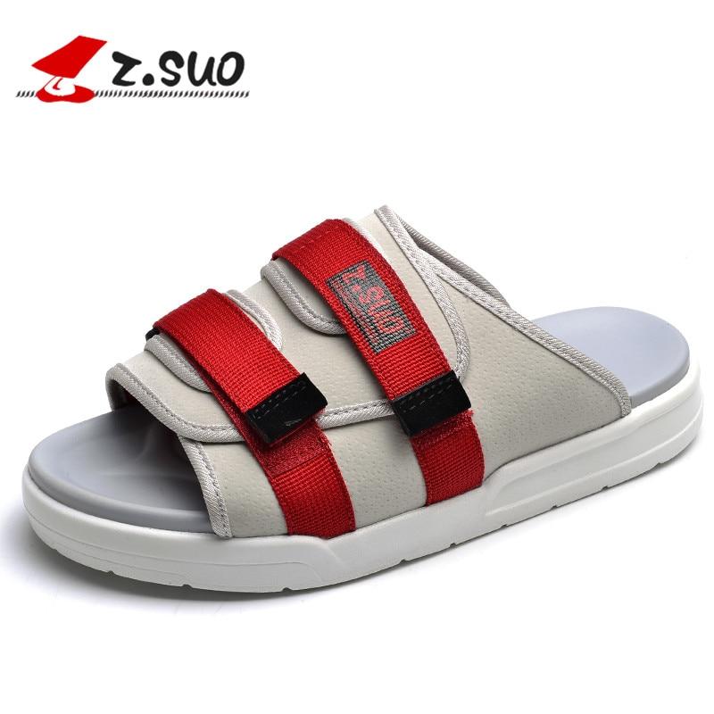 Z. Suo men's Slippers,leisure fashion Slippers,goosegrass sole Breathable Microfiber sandals.Sandalias DE cuero DE los hombres2 dangdangt ongsuo 2 5tong suo 6 2