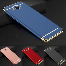 Luxury Gold Red Removable 3 in 1 Hard Plastic Case For Huawei Y3 2017 PC Plating Matte Cover