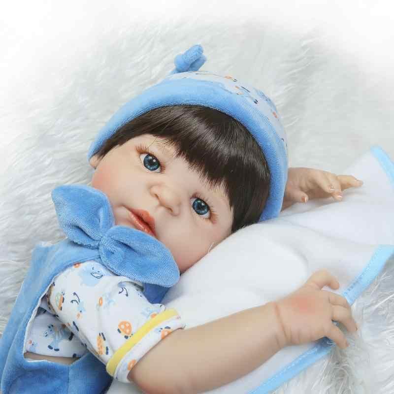 Черные волосы около 57 см вся силиконовая кукла Reborn Baby может войти в воду около 22 дюймов Кукла Adora может сидеть, лежать, не может стоять