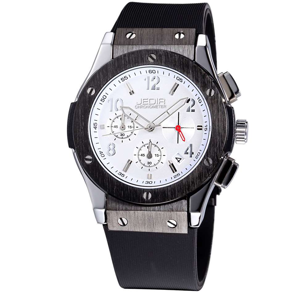 Image 3 - Mens Watches Top Luxury Brand Men Silicone Hublo Sports Watches Men's Clock Waterproof Military Wrist Watch Relogio Masculino-in Quartz Watches from Watches