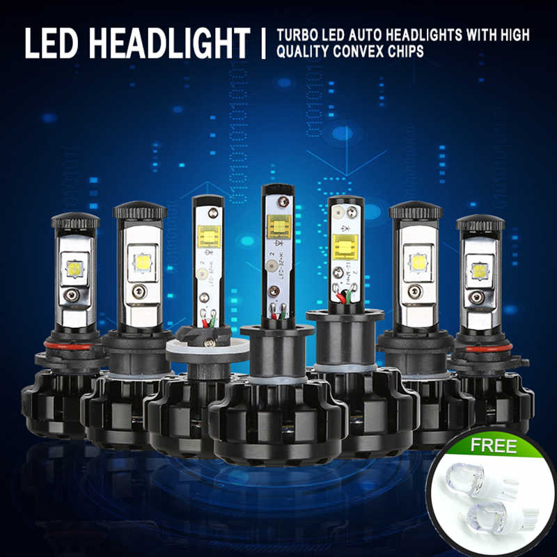 JGAUT V18 Car light Kit H4 LED H13 9007 H7 H11 9005 9006 H1 H3 XHP70 3000K 8000K 6000K Motorcyc Fog Headlight Bulbs Lamp Canbus
