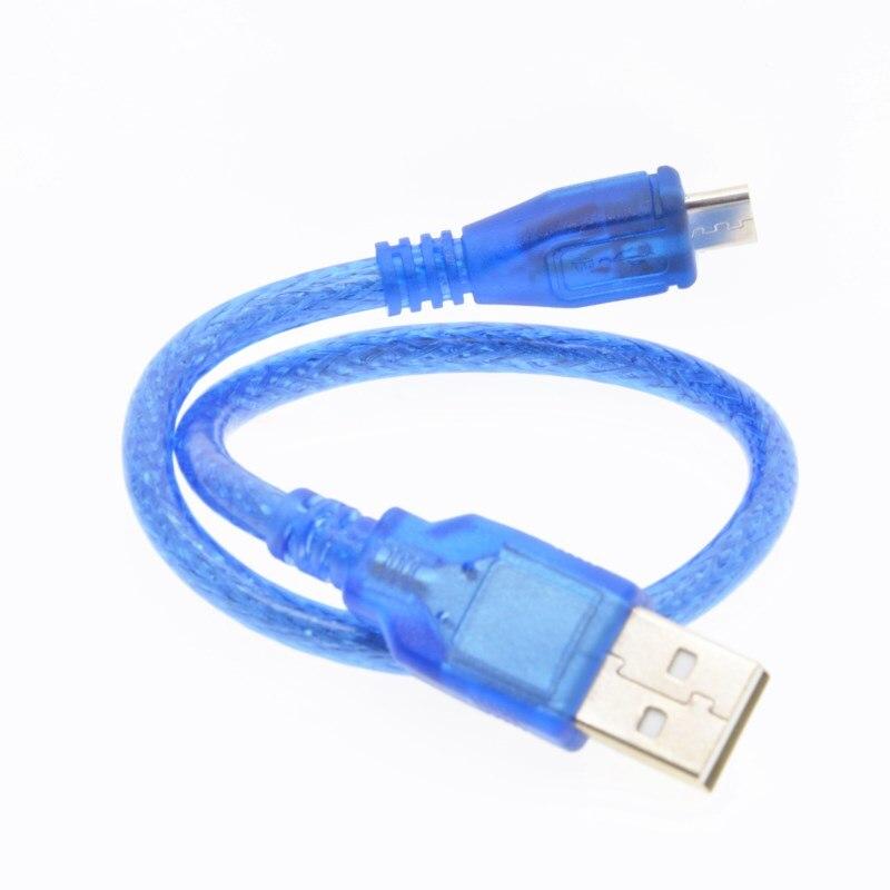 Кабель Micro USB для arduino с платой DUE R3 D1 mini NodeMcu V3 TP4056 18650 30 см
