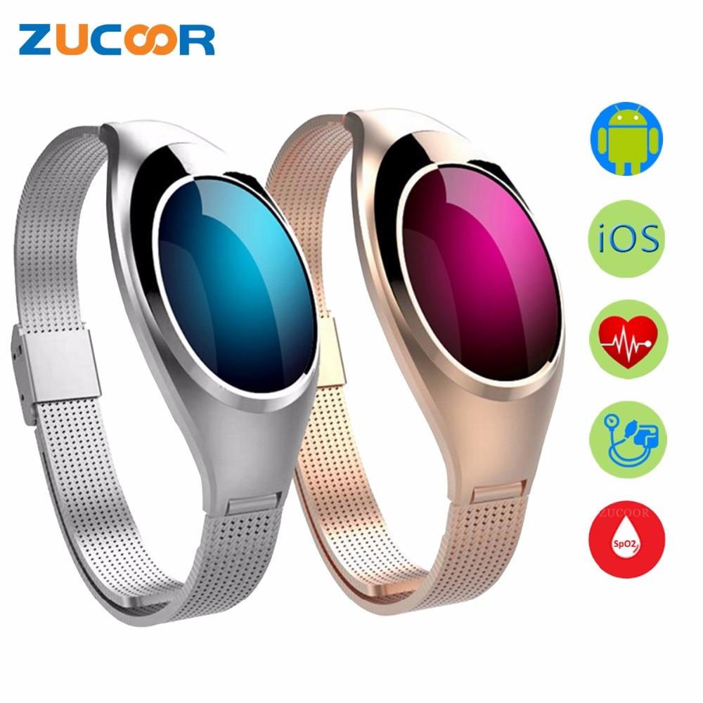 Bracelet intelligent Z18 Bluetooth Bracelet Moniteur de Fréquence Cardiaque D'oxygène de Tension Artérielle Podomètre Étanche Pour iOS Android Femmes Hommes