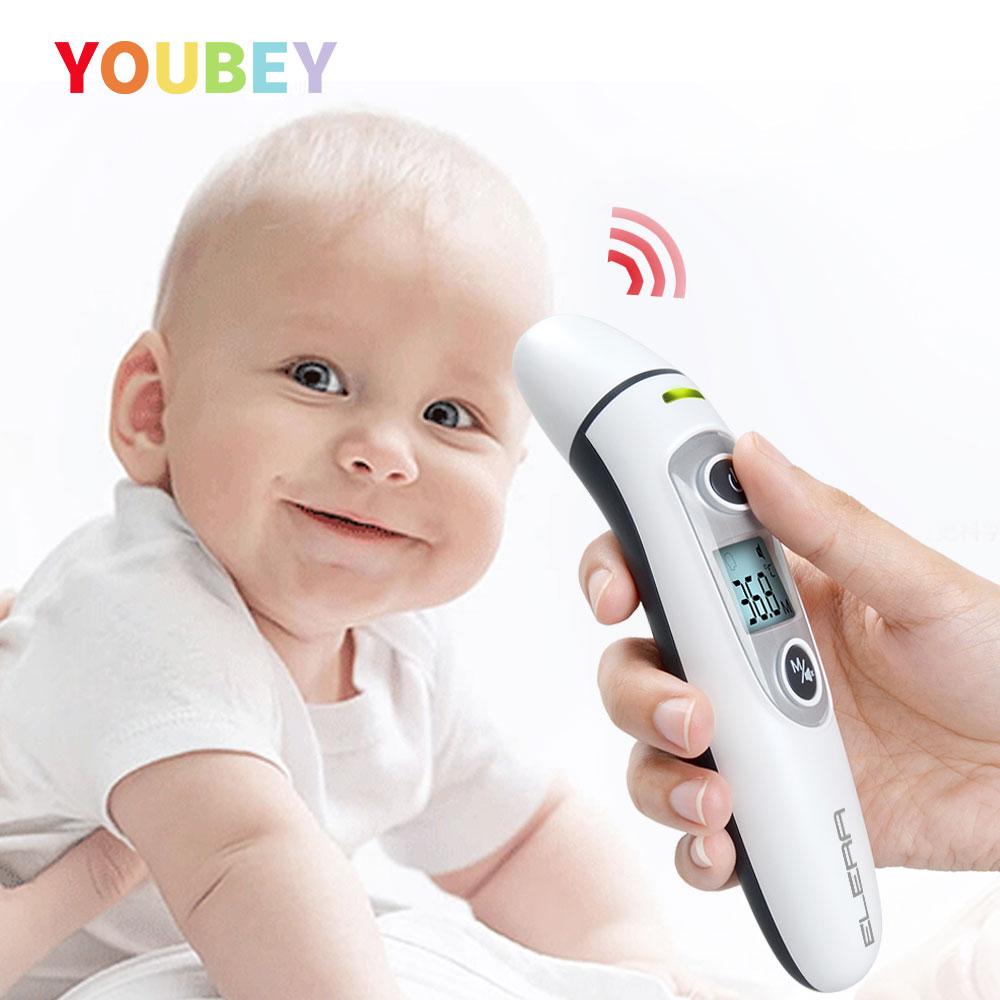 Termometr dla dziecka termometr na podczerwień-skontaktuj się z pomiar ciała podczerwieni IR cyfrowy LCD dla dzieci ucha i gorączka czoło gorący bubel mamy Baby Care gorączka termometr