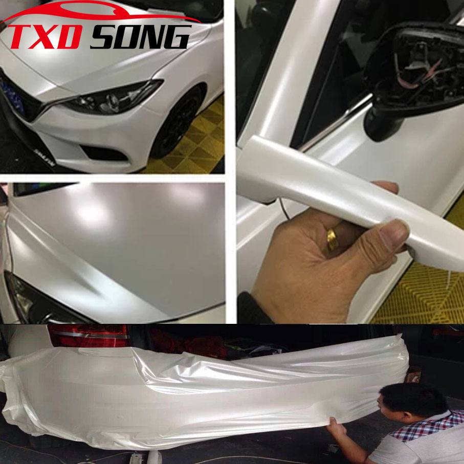 Highest Quality Ceramic White Matte Matt Vinyl Wrap Car Stickers Bubble Free Car Vinyl Film For Car Body Film