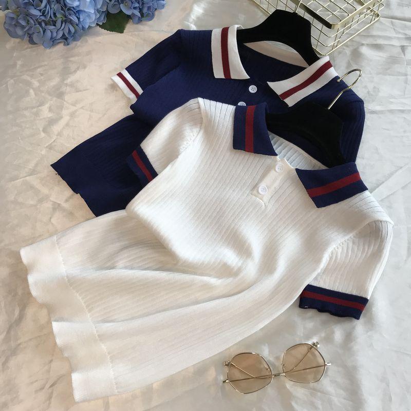 Women Polo Shirts Short Sleeve Casual Women Shirts Solid Tees Cotton Polo Women Shirts Turn-down Neck Female Shirts 2019