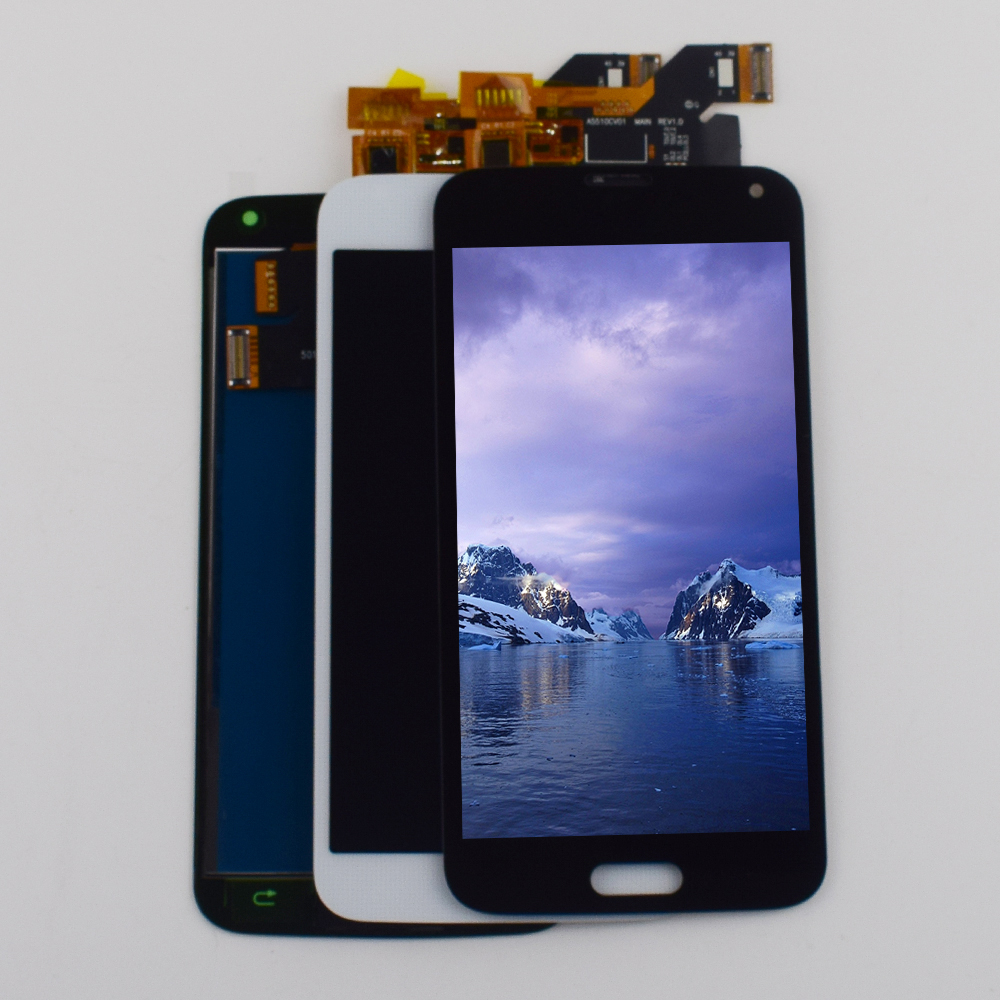 For Samsung <font><b>Galaxy</b></font> <font><b>S5</b></font> <font><b>Display</b></font> Touch Screen Digitizer Assembly For Samsung <font><b>Galaxy</b></font> <font><b>S5</b></font> G900F LCD <font><b>Display</b></font> <font><b>G900</b></font> <font><b>SM</b></font>-<font><b>G900</b></font> <font><b>SM</b></font>-G900F LCD image