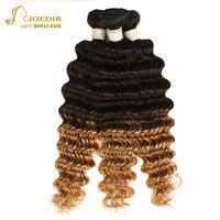 Joedir Peruvian Deep Wave Hair Bundles Ombre Blonde Color T1B 4 27 Hair Bundles Human Hair Weave Bundles Deal Non Remy