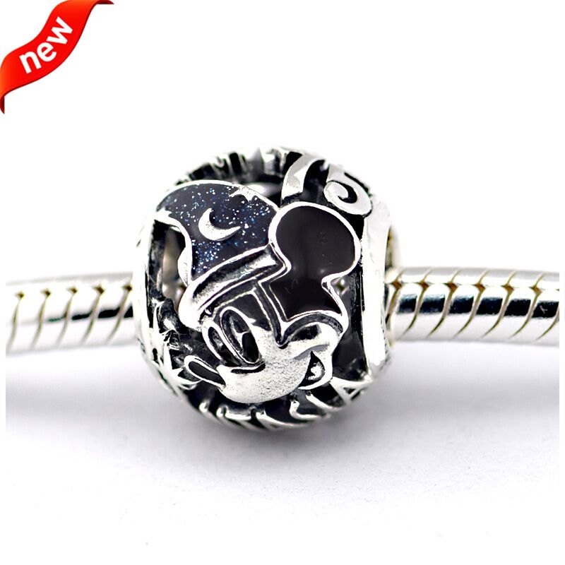 137709c06 Fits Pandora Charms Bracelets Sorcerer Mouse Fantasia 75th Anniversary Beads  100% 925 Sterling Silver Jewelry Free Shipping