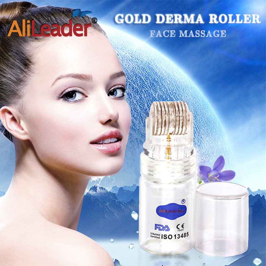 portable Gold Derma Roller bottle refillable face Massage Roller liquid bottle for cosmetic travel container 16ml glass bottles shampoo refillable bottle makeup container travel mini packing bottle press bottle forshampoo bath refillable bottles roller