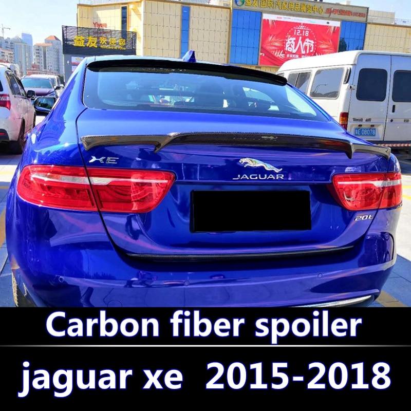 Carbon Fiber Spoiler Trunk Boot Wing Rear bumper Spoiler for Jaguar XE 2015-2018 High quality carbon fiber spoilerCarbon Fiber Spoiler Trunk Boot Wing Rear bumper Spoiler for Jaguar XE 2015-2018 High quality carbon fiber spoiler