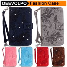 Classic wallet PU Leather case for Apple iPhone 7 plus iPhone7 Plus 7+ TPU holder Card Slot Rhinestone Butterfly flower цены