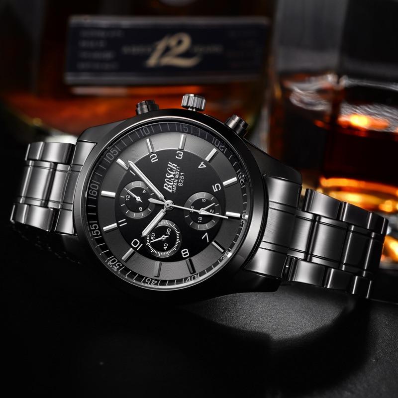 Top Luxury Brand Bosck Men Vattentät Stainless Steel Band Watch - Herrklockor - Foto 2