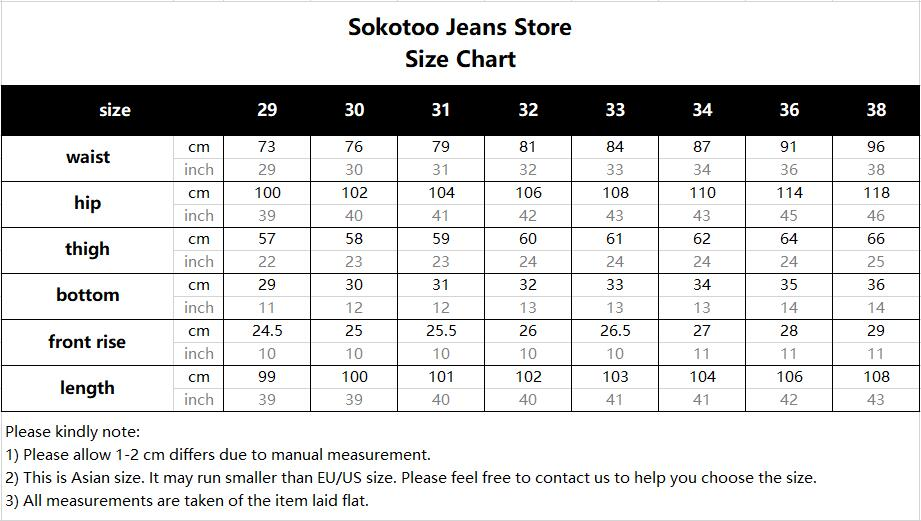 Sokotoo Men's fashion letters flame black printed jeans Slim straight colored painted stretch pants 48