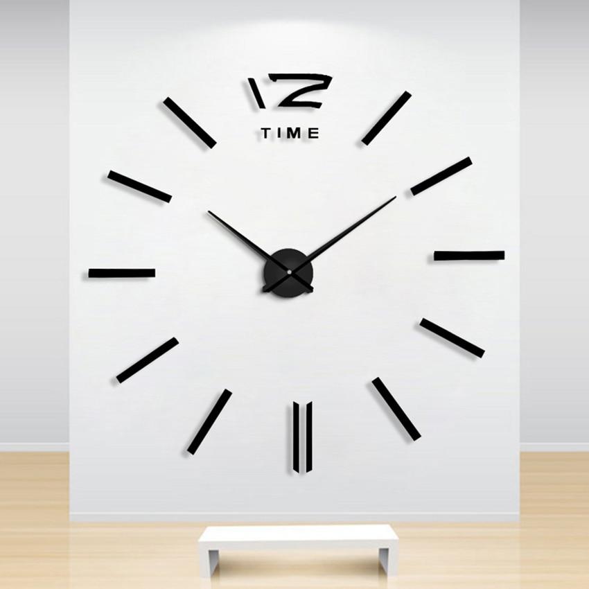 Ev Dekorasiya Divar Saatı Böyük Güzgü Divar Saatı Müasir - Ev dekoru - Fotoqrafiya 4