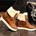 Marca Invierno Gruesa Roja Botas De Nieve de Moda Para Las Mujeres de Piel zapatos Botines de Plataforma Niñas Zapatos Mujeres Flats Más El Tamaño 40