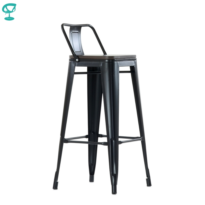 95261 Barneo N-238 High Metal Wood Kitchen Breakfast Interior Stool Bar Chair Kitchen Furniture Black Free Shipping In Russia