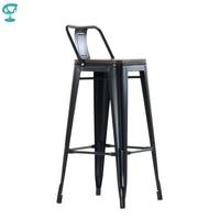 95261 Barneo N 238 high Metal Wood Kitchen Breakfast Interior Stool Bar Chair Kitchen Furniture Black free shipping in Russia