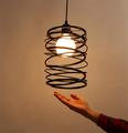 Художественный личность одной головы Nordic минималистский современный дизайн абажур ресторан магазин Подвесной светильник лампа Освещения
