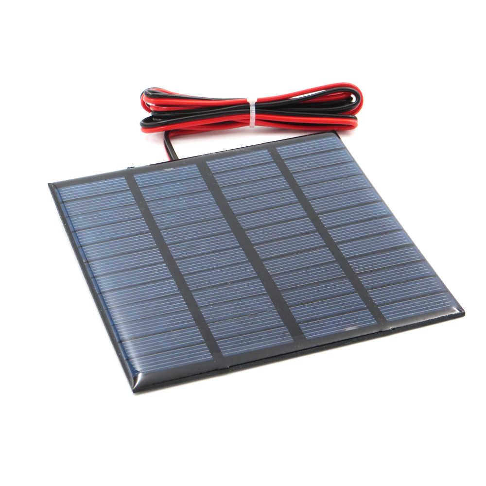 لوحة طاقة شمسية 9 فولت 12 فولت 18 فولت 1.5 واط 1.8 واط 1.92 واط 2 واط 2.5 واط 3 واط 5 واط 10 واط 20 واط بطارية شمسية صغيرة شاحن جوّال محمول لتقوم بها بنفسك مع كابل