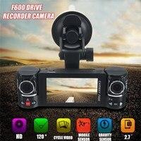 2 7 Dual Lens Car DVR Camera 1080P Vehicle DVR Dash Cam Video Driving 180 Dergee