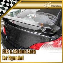 ЭПР Стайлинга Автомобилей Для Hyundai Genesis Rohens Купе 2009 Углеродного Волокна Задний Спойлер Багажника Крыло