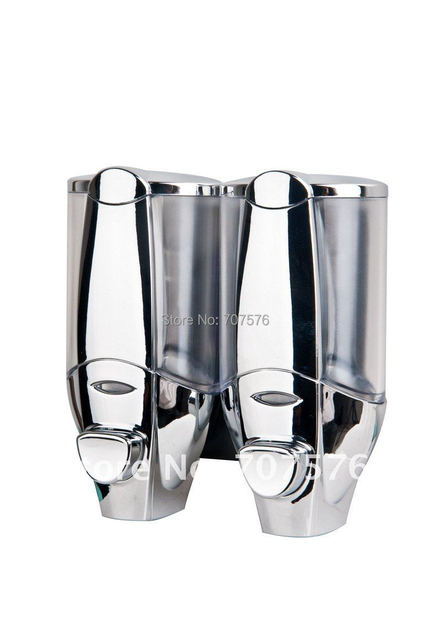 Purchasing Sample European style Twins Chrome Soap Dispenser For Home /Star Hotel Manual Double Shower/Shampoo/Soap dispenser