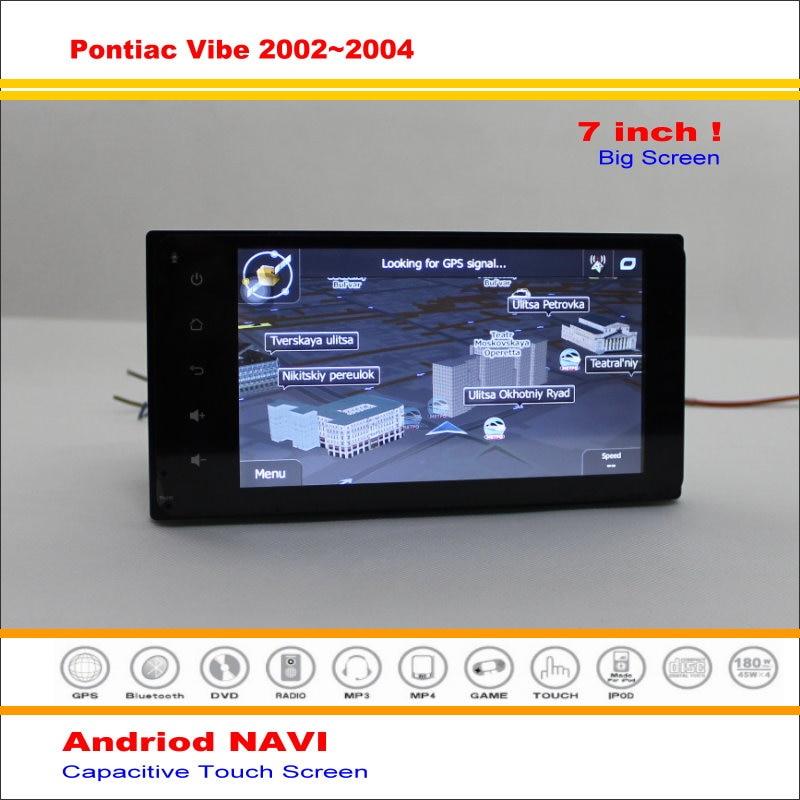 Coche android sistema de navegación gps de navegación navi para pontiac vibe 200