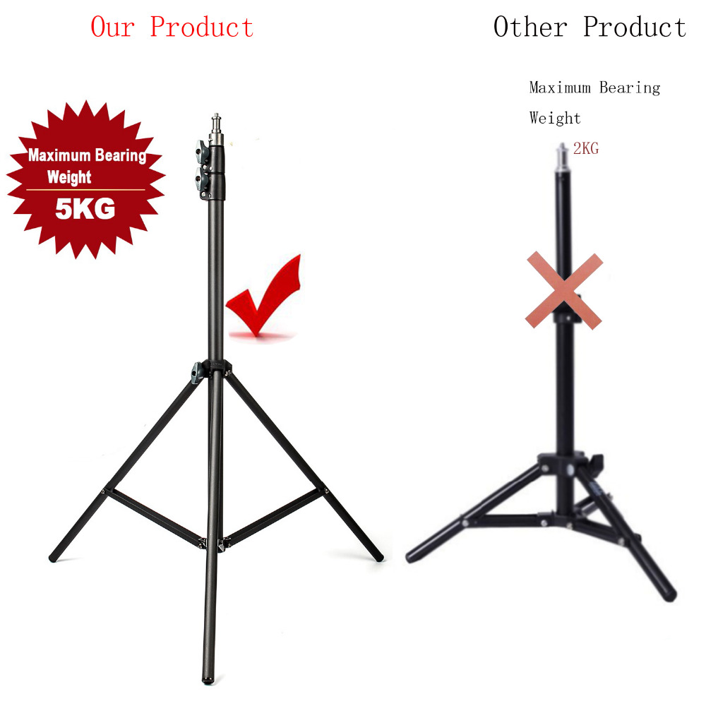 2m Light Stand Tripod With 1/4 Screw Head With Camera Tripod Lamp Holder Flash Bracket For Godox Flash Video Light DSLR Camera