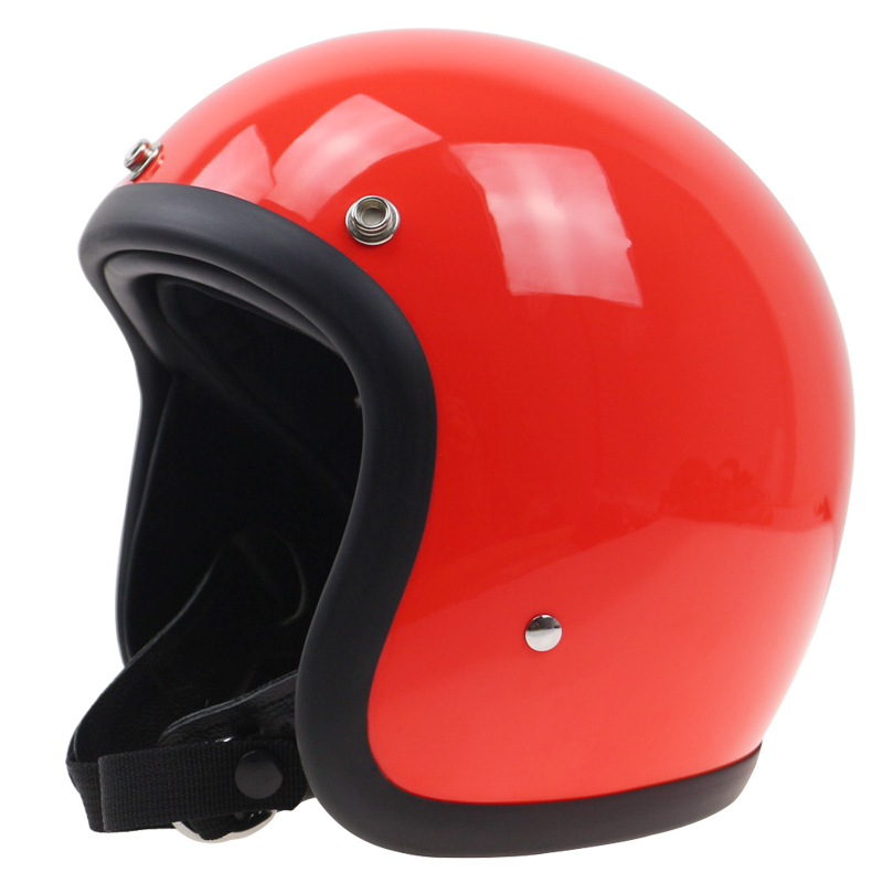THH hand made retro motorbike helmet 3/4 Open Face motorcycle helmet Vintage style DD ring buckle Thin Shell Old Bike Style extremely light weight vintage helmet fiberglass shell free style novelty helmet japan style no more mushroon head